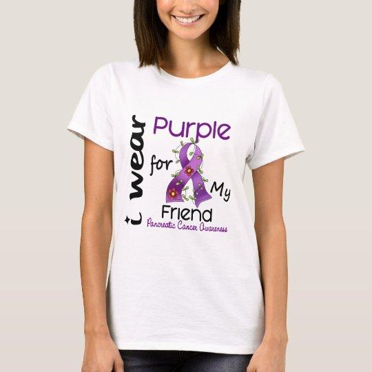 Pancreatic Cancer I Wear Purple For My Friend 43 T-Shirt