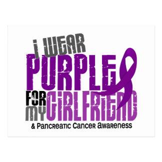 Pancreatic Cancer I Wear Purple For My Girlfriend Postcard
