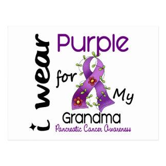Pancreatic Cancer I Wear Purple For My Grandma 43 Postcard