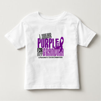Pancreatic Cancer I Wear Purple For My Grandma 6.2 Toddler T-shirt