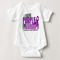 Pancreatic Cancer I Wear Purple For My Grandpa 6.2 Baby Bodysuit