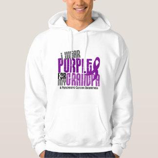 Pancreatic Cancer I Wear Purple For My Grandpa 6.2 Hoodie