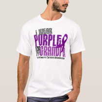 Pancreatic Cancer I Wear Purple For My Grandpa 6.2 T-Shirt
