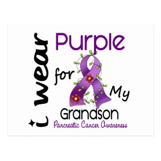 Pancreatic Cancer I Wear Purple For My Grandson 43 Postcards