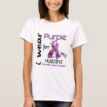 Pancreatic Cancer I Wear Purple For My Husband 43 T-Shirt
