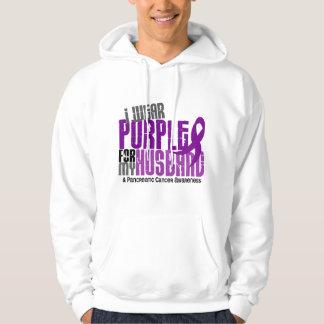 Pancreatic Cancer I Wear Purple For My Husband 6.2 Hoodie