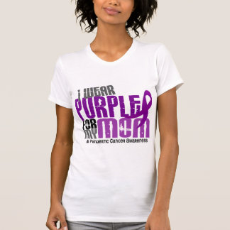 Pancreatic Cancer I Wear Purple For My Mom 6.2 T-Shirt
