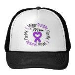 Pancreatic Cancer I Wear Purple For My Mom Trucker Hat