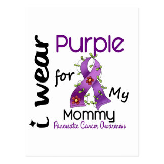 Pancreatic Cancer I Wear Purple For My Mommy 43 Postcards