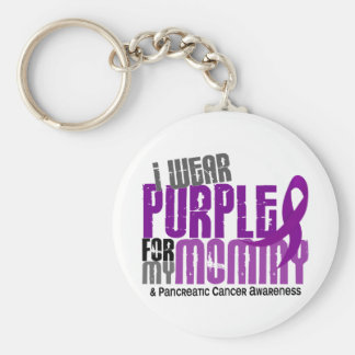 Pancreatic Cancer I Wear Purple For My Mommy 6.2 Keychain