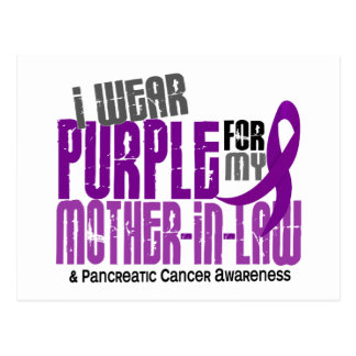 Pancreatic Cancer I Wear Purple For My Mother-In-L Postcard
