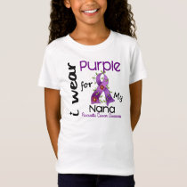 Pancreatic Cancer I Wear Purple For My Nana 43 T-Shirt