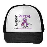 Pancreatic Cancer I Wear Purple For My Son 43 Trucker Hat