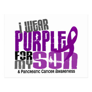 Pancreatic Cancer I Wear Purple For My Son 6.2 Postcard