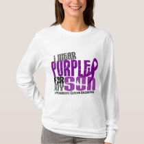 Pancreatic Cancer I Wear Purple For My Son 6.2 T-Shirt