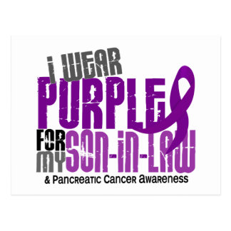 Pancreatic Cancer I Wear Purple For My Son-In-Law Postcard