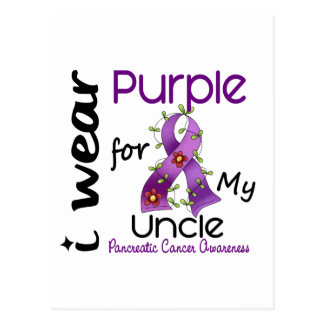 Pancreatic Cancer I Wear Purple For My Uncle 43 Postcard