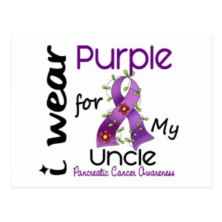 Pancreatic Cancer I Wear Purple For My Uncle 43 Post Cards