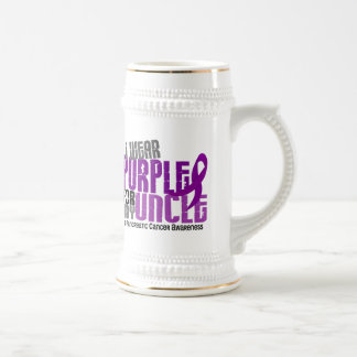 Pancreatic Cancer I Wear Purple For My Uncle 6.2 Beer Stein
