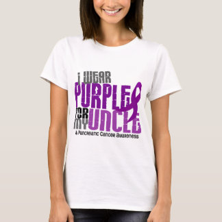 Pancreatic Cancer I Wear Purple For My Uncle 6.2 T-Shirt