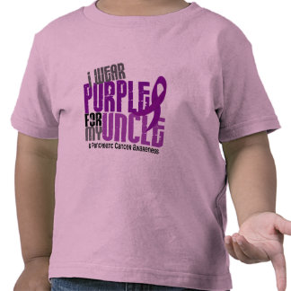 Pancreatic Cancer I Wear Purple For My Uncle 6.2 T Shirts
