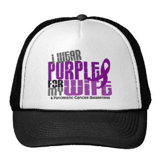 Pancreatic Cancer I Wear Purple For My Wife 6.2 Hats