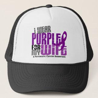Pancreatic Cancer I Wear Purple For My Wife 6.2 Trucker Hat