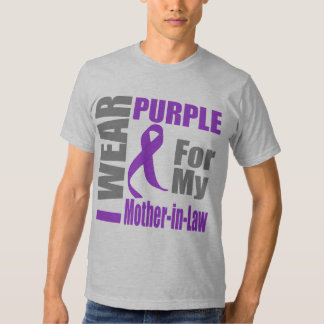 Pancreatic Cancer I Wear Purple Mother-in-Law T-shirt