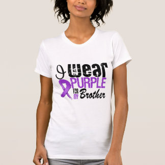 Pancreatic Cancer I Wear Purple Ribbon BROTHER Tees