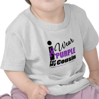 Pancreatic Cancer I Wear Purple Ribbon Cousin T Shirt