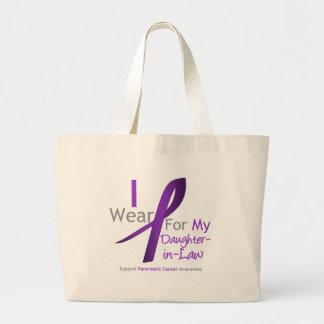 Pancreatic Cancer I Wear Purple Ribbon Daughter-in Jumbo Tote Bag