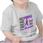 Pancreatic Cancer I Wear Purple Ribbon Grandpa Shirts