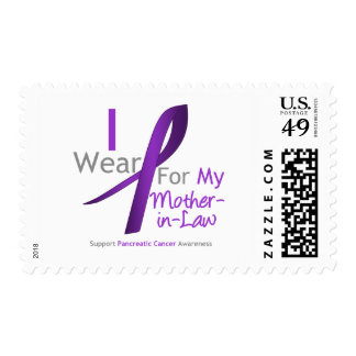 Pancreatic Cancer I Wear Purple Ribbon Mother-in-L Stamp
