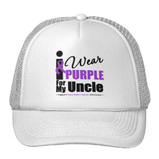 Pancreatic Cancer I Wear Purple Ribbon Uncle Hats