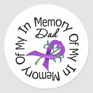 Pancreatic Cancer In Memory of My Dad Classic Round Sticker