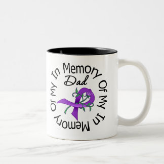 Pancreatic Cancer In Memory of My Dad Two-Tone Coffee Mug