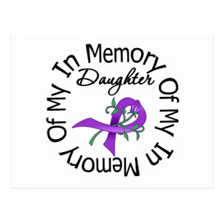 Pancreatic Cancer In Memory of My Daughter Postcard