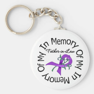 Pancreatic Cancer In Memory of My Father-in-Law Keychain