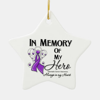 Pancreatic Cancer In Memory of My Hero Christmas Ornament