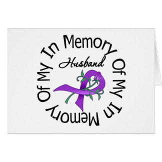 Pancreatic Cancer In Memory of My Husband Greeting Card