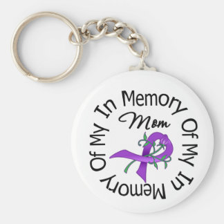 Pancreatic Cancer In Memory of My Mom Keychain