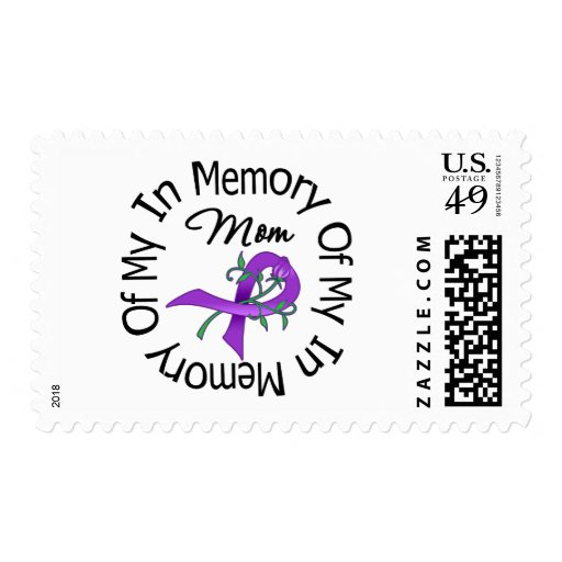 Pancreatic Cancer In Memory of My Mom Postage Stamp