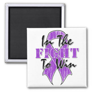 Pancreatic Cancer In The Fight To Win 2 Inch Square Magnet