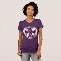Pancreatic Cancer Iron Cross Ladies Jersey T-Shirt