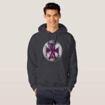 Pancreatic Cancer Iron Cross Men's Hoodie