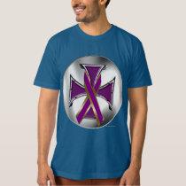 Pancreatic Cancer Iron Cross Men's Organic T T-Shirt