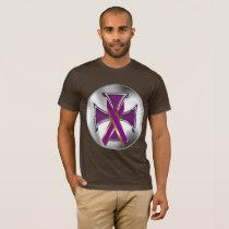 Pancreatic Cancer Iron Cross Men's T-Shirt