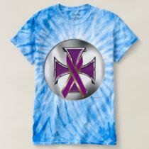 Pancreatic Cancer Iron Cross Men's Tie-Dye T T-shirt