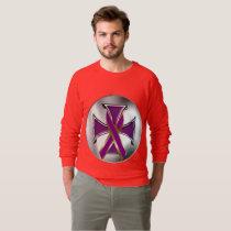 Pancreatic Cancer Iron Cross Raglan Sweatshirt