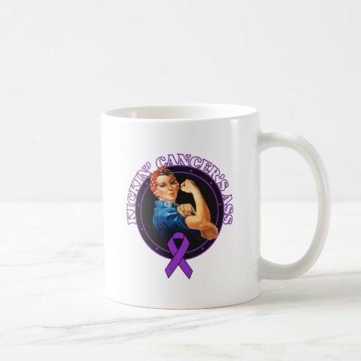 Pancreatic Cancer Kickin Ass Rosie Style Coffee Mugs